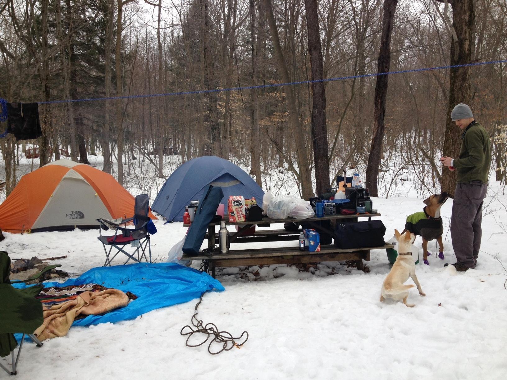 Snow camping sex