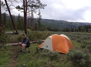 our backcountry campsite